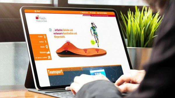 Responsive Website – Wir bringen Bewegung ins Thema Schuheinlagen.
