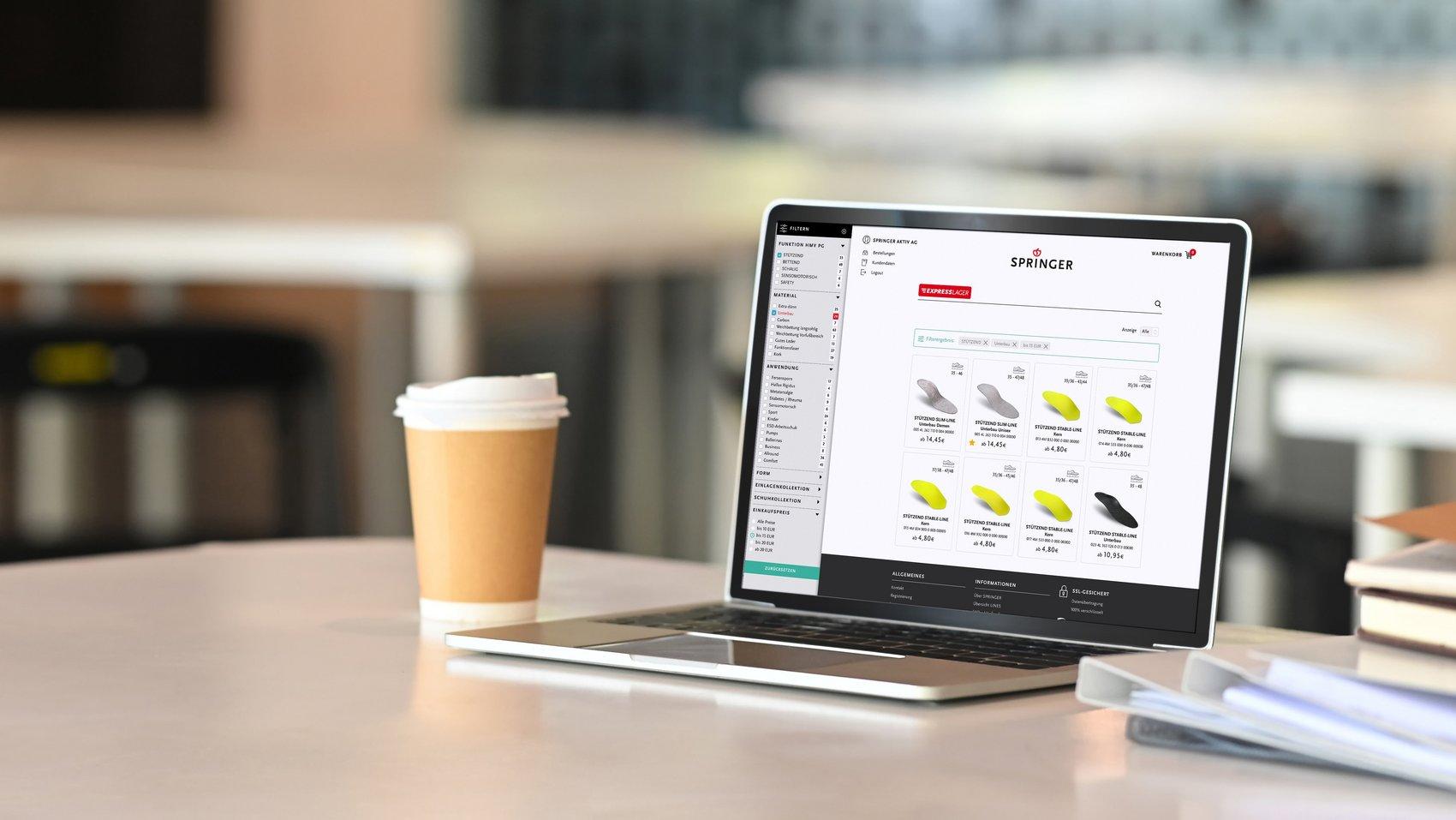 Webshop mit Inhouse-Anbindung – Nicht lang faxen, online wachsen!