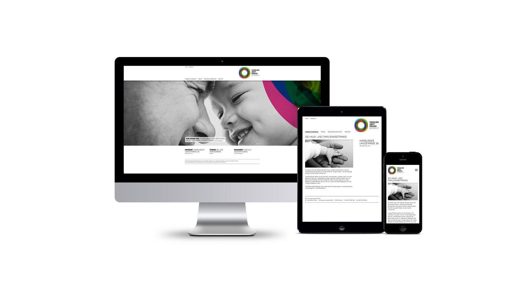 Responsive Website – Modernes Webdesign für eine Familienarztpraxis nach alter Tradition.